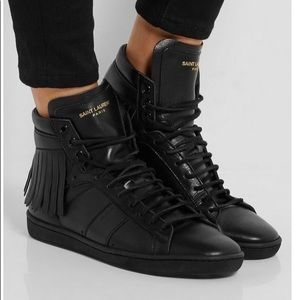 Authentic Saint Laurent Leather Sneakers, 41